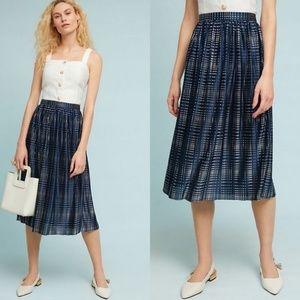 Anthro Sabina Musayev Cassia Shine Midi Skirt